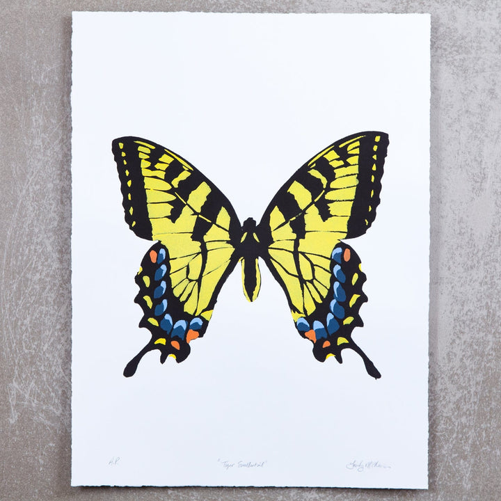 Tiger Swallowtail on Ice Blue