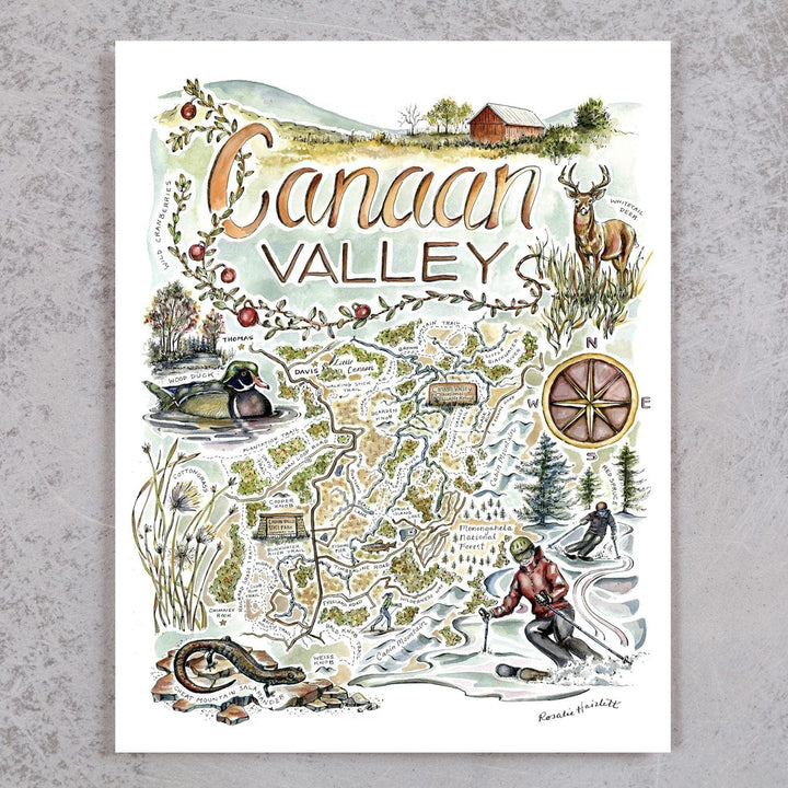 Canaan Valley Map