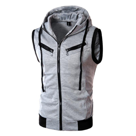 Trip Zip Sleeveless Hoodie-3 Color Options