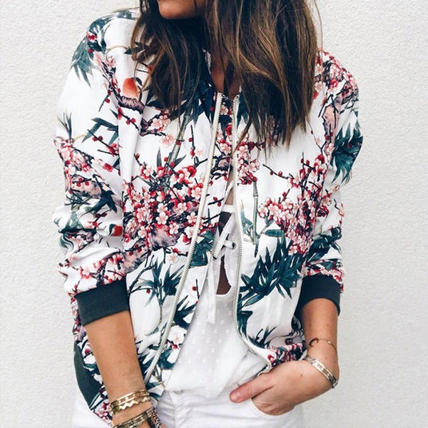 Retro Bomber Floral Jacket-4 Color Options