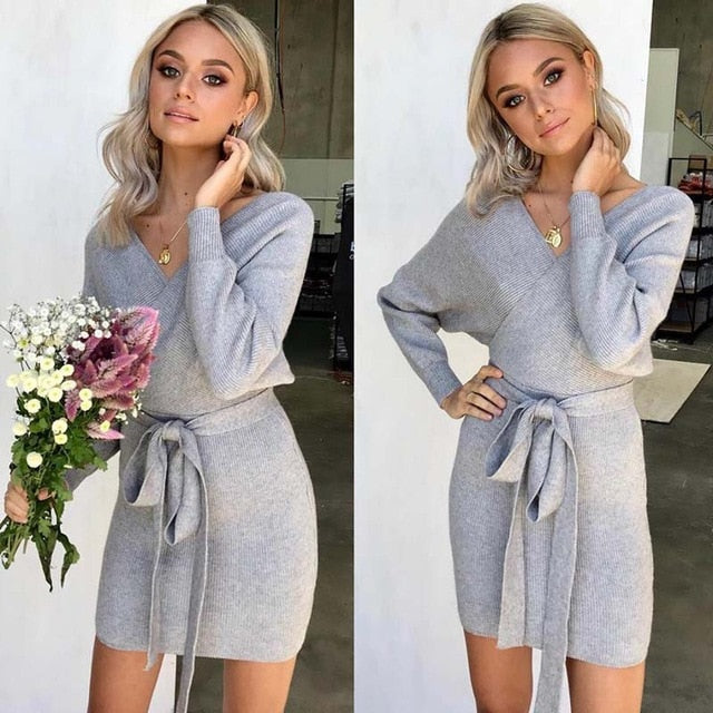 Fall Sweater Dress-4 Color Options