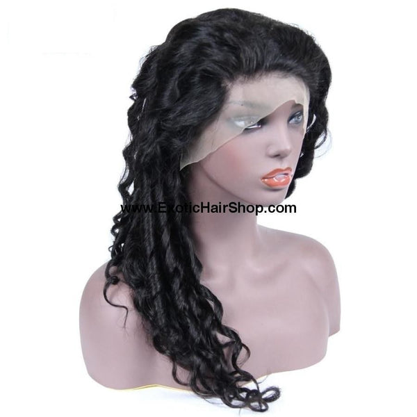 Swiss Lace Malaysian Loose Wave Lace Front Wig - Exotic Hair Shop