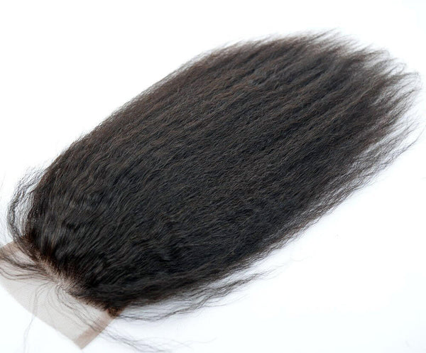 HD Film Lace Kinky Straight Closure - Exotic Hair Shop