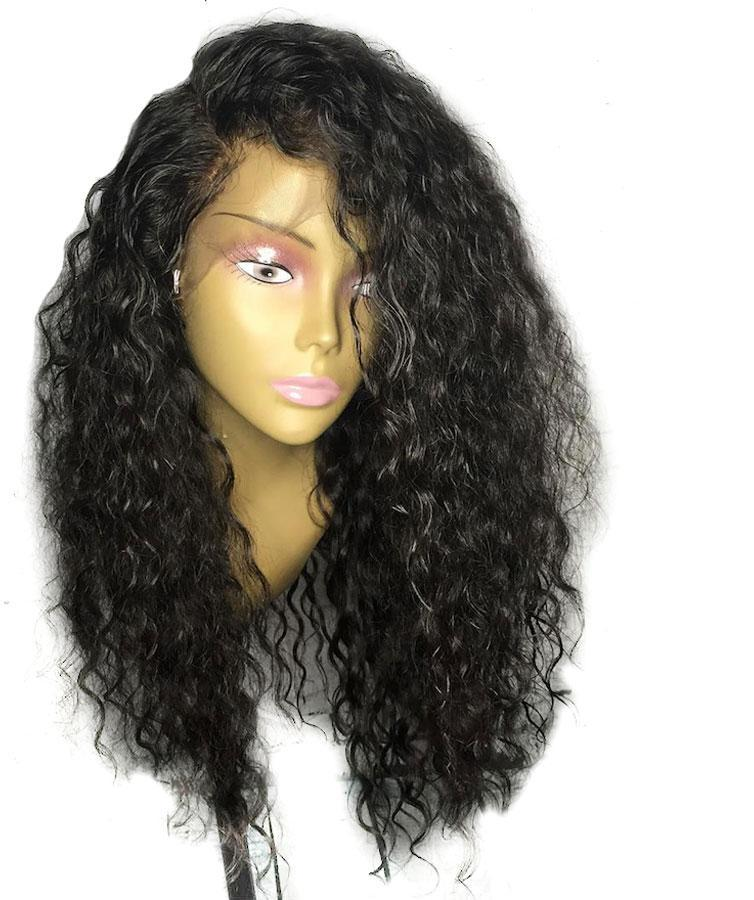 Brazilian Curly 360 Lace Frontal Wig with Pre-Plucked Baby Hair - Exotic Hair Shop