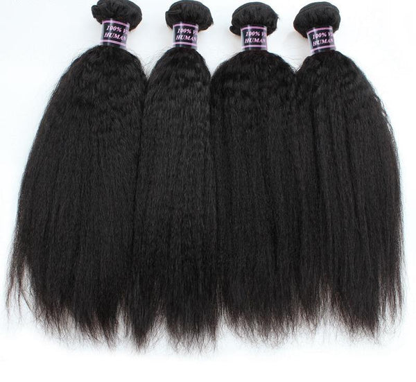 3 Malaysian Yaki Straight Bundles - Exotic Hair Shop