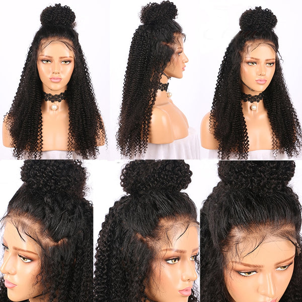 Brazilian Curly 360 Lace Frontal Wig with Pre-Plucked Hairline and Baby Hair - Exotic Hair Shop