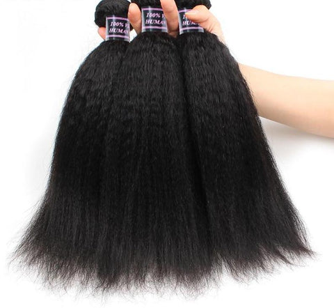 3 Brazilian Yaki Human Hair Bundles - Exotic Hair Shop