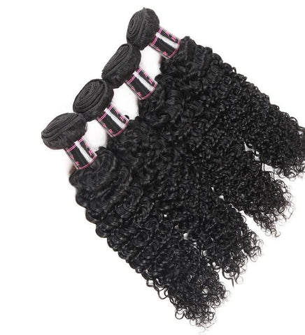 4 Malaysian Curly Hair Bundles - Exotic Hair Shop