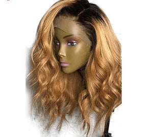 Brazilian Loose Wave Lace Front Wig in Honey Blonde and 1B Ombre - Exotic Hair Shop