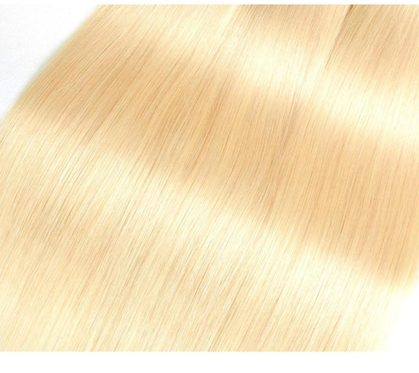 4 Brazilian Straight Blonde #613 Bundles with 13x4 Lace Frontal - Exotic Hair Shop