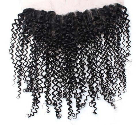 "Indian Curly Hair Lace Frontal 13""x4"" - Exotic Hair Shop"