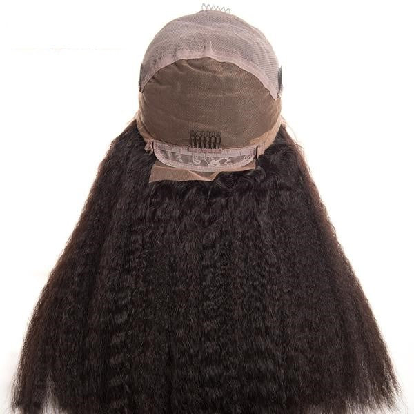 Indian Kinky Straight Scalp Illusion Full Lace Wig - Exotic Hair Shop