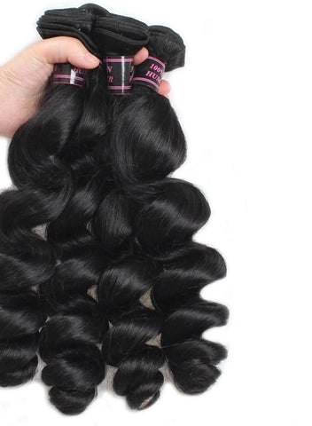 4 Brazilian Loose Wave Bundles - Exotic Hair Shop