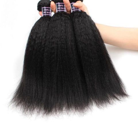 3 Indian Yaki Straight Hair Bundles - Exotic Hair Shop