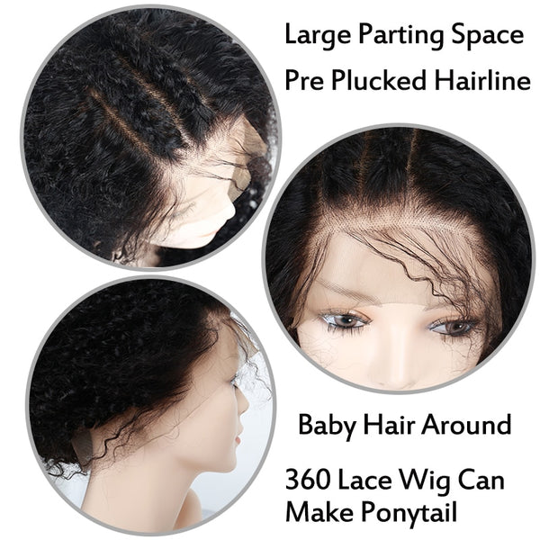 Brazilian Exotic Loose Curl 360 Lace Frontal Wig with Pre-Plucked Baby Hair - Exotic Hair Shop