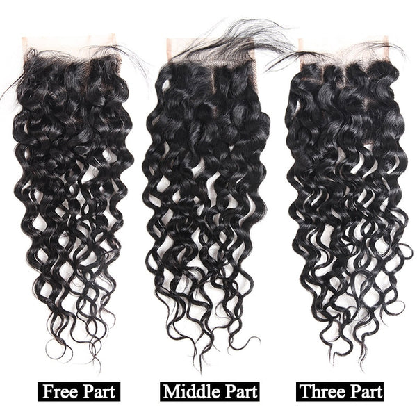 "Indian Water Wave 4""x4"" Lace Closure - Exotic Hair Shop"