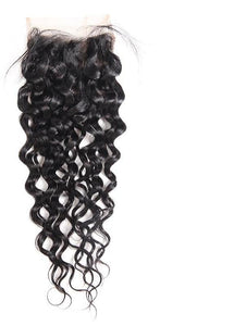 "Malaysian Water Wave 4""x4"" Lace Closure - Exotic Hair Shop"