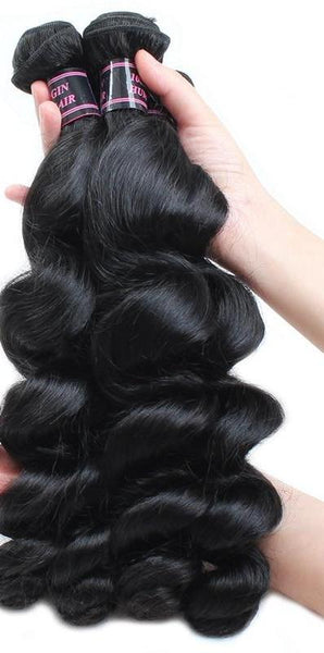3 Indian Loose Wave Bundles - Exotic Hair Shop