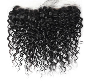"Indian Water Wave Lace Frontal 13""x 4"" - Exotic Hair Shop"