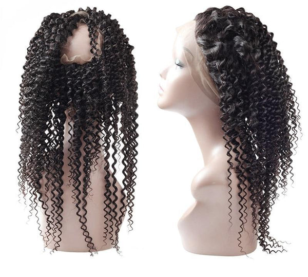 Indian Exotic Curly 360 Lace Frontal - Exotic Hair Shop
