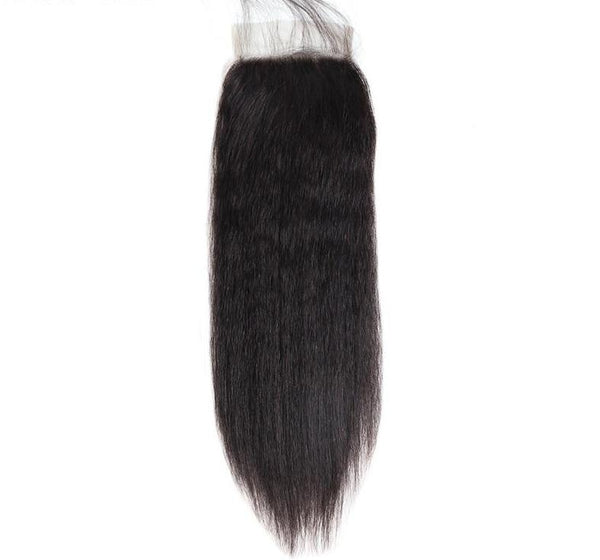 "Brazilian Yaki Straight 4""x4"" Lace Closure - Exotic Hair Shop"