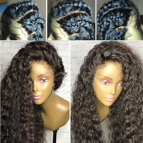 Brazilian Exotic Curly 360 Lace Frontal Wig with Pre-Plucked Baby Hair - Exotic Hair Shop