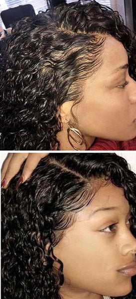 Brazilian Curly 360 Lace Frontal Wig with Pre-Plucked Natural Hairline - Exotic Hair Shop