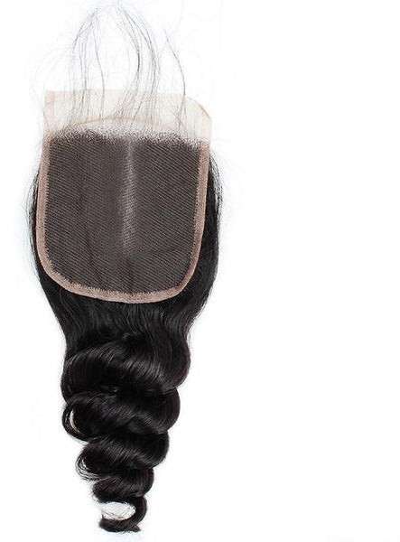 "Malaysian Loose Wave 4""x4"" Lace Closure - Exotic Hair Shop"