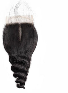 "Indian Loose Wave 4""x4"" Lace Closure - Exotic Hair Shop"