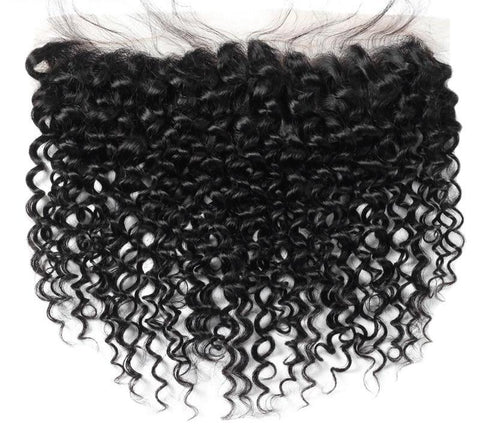 "Malaysian Curly Hair Lace Frontal 13""x4"" - Exotic Hair Shop"
