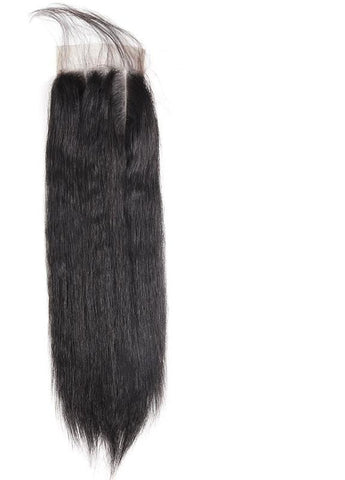 "Indian Yaki Straight 4""x4"" Lace Closure - Exotic Hair Shop"