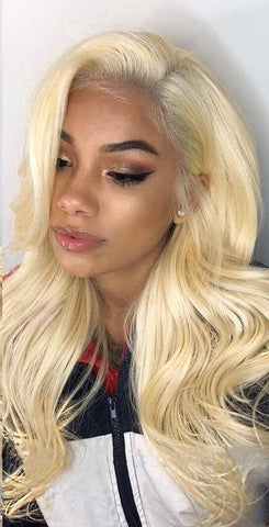 Brazilian Body Wave Lace Front Wig in Blonde Color #613 - Exotic Hair Shop