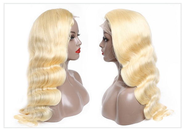 Brazilian Body Wave Wig in Color #613 Honey Blonde - Exotic Hair Shop