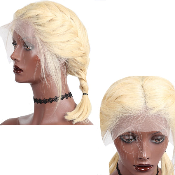 Brazilian Straight Bob Lace Front Wig in Blonde Color #613 - Exotic Hair Shop