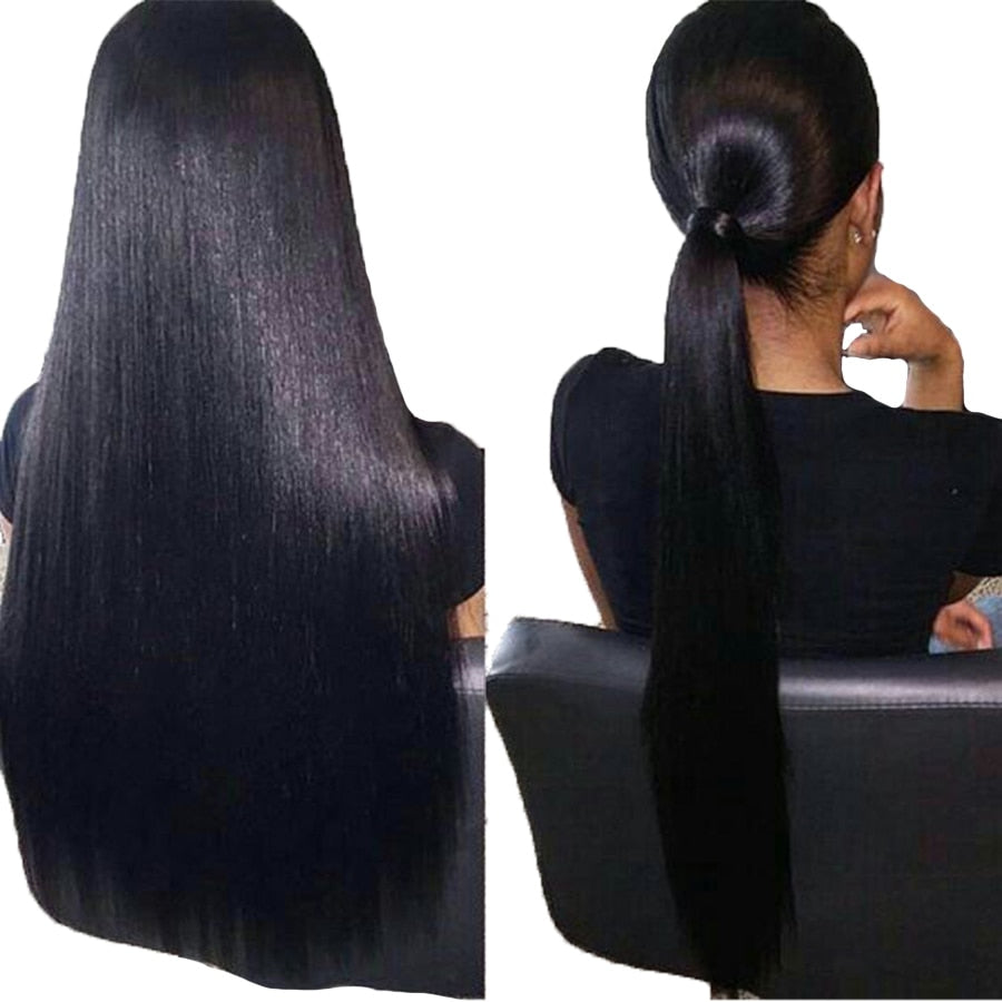 Malaysian Straight Scalp Illusion Full Lace Wig - Exotic Hair Shop
