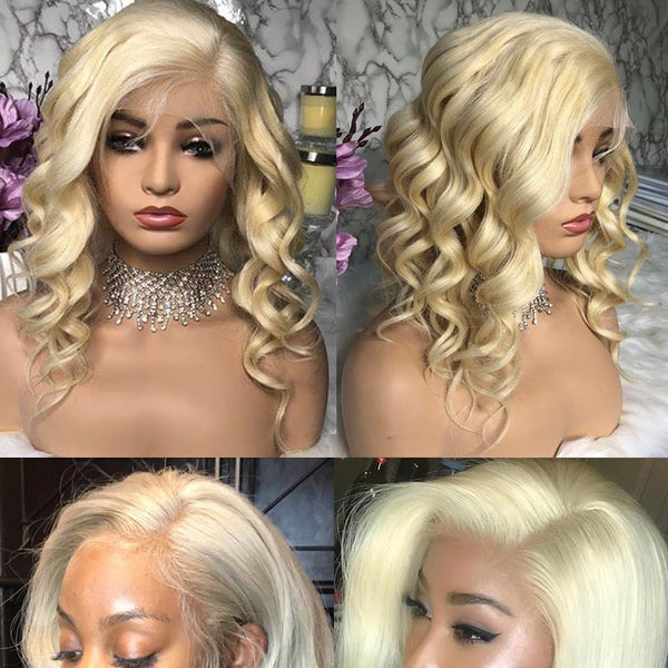 Brazilian Loose Wave Lace Front Wig in Blonde Color #613 - Exotic Hair Shop