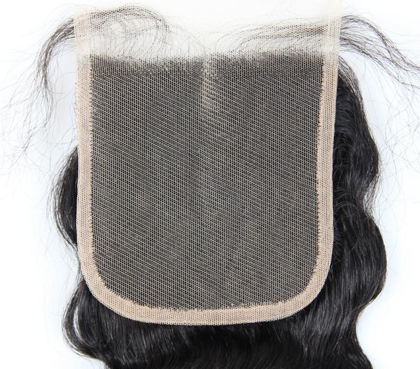 Swiss Lace Closure Brazilian Loose Wave 4x4 Closure - Exotic Hair Shop