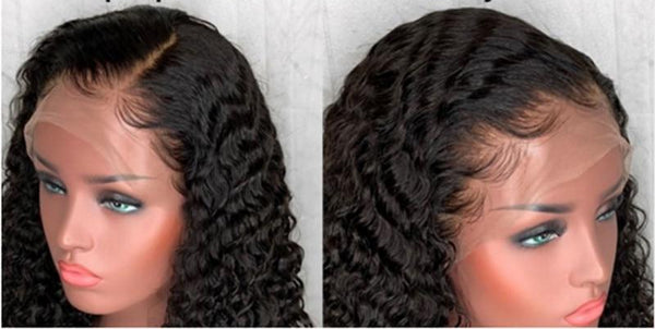 Swiss Lace Brazilian Water Wave Lace Front Wig - Exotic Hair Shop