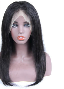 Swiss Lace Brazilian Straight Lace Front Wig - Exotic Hair Shop