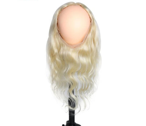 Swiss Lace Frontal Brazilian Body Wave 360 Lace Frontal  in #613 - Exotic Hair Shop