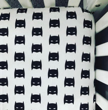 Load image into Gallery viewer, Superhero Fitted Crib Sheet | Black and White