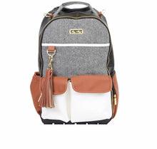 Load image into Gallery viewer, Coffee + Cream Boss Diaper Bag Backpack