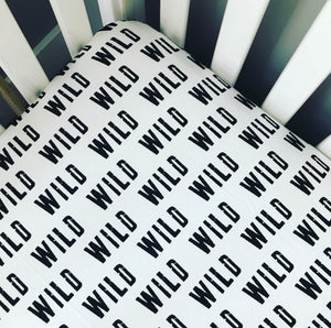 Black + White Fitted Crib Sheet | Wild
