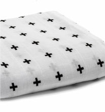 Load image into Gallery viewer, Organic Cotton Muslin Swaddle | Swiss Cross