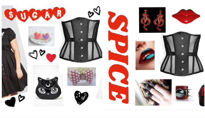 Sugar and Spice - Mesh Corset Outfit Inspiration