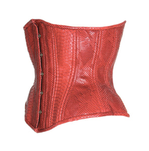 Red Dragon Underbust Corset, CUSTOM ORDER