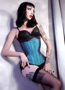 Blue Iridescent Long Hourglass