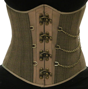 Steampunk Plaid Chained Corset