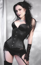 Load image into Gallery viewer, Black Satin Corset