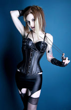 Load image into Gallery viewer, Black Leather Corset
